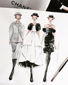 Fashion sketches illustration silhouette 67 ideas for 2019 Fashion Design Sketchbook, Fashion Design Drawings, Fashion Sketches, Art Sketchbook, Fashion Drawing Dresses, Fashion Illustration Dresses, Fashion Illustrations, Drawing Fashion, School Fashion