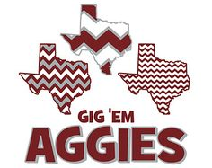 Texas A&M Chevron Pattern, Aggies, SVG, DXF, Vector Art, Die-Cut Files for Cricut Explore, Sizzix, Silhouette Cameo, Vinyl Cutter