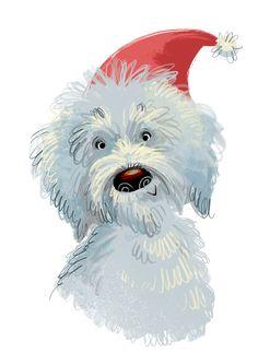 Dogs on Behance Illustration Inspiration, Dog Illustration, Christmas Illustration, Character Illustration, Cute Cartoon Boy, Cartoon Dog, Christmas Animals, Christmas Dog, Christmas Ideas