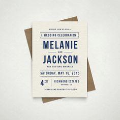 Bold DIY wedding invite. Printable and customizable. #wedding #invites #etsyfinds #stationery