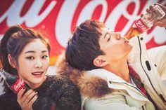 """prkbgm: """""""" park bogum and kim yuna for coca cola ✧ coca cola x 2018 pyeongchang winter olympics""""1451 x 967"""" """""""