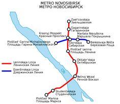 U-Bahn karte Nowosibirsk voller Auflösung