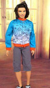 Doll Clothing ~ Barbie BoyFriend Ken Clothes Tee /& Short Pants Outfit SET#D
