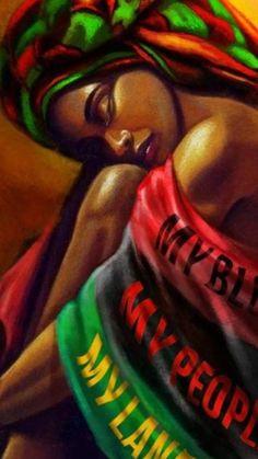 Black Love Art, Black Girl Art, Art Girl, Red Black, Black Hair, Black Art Painting, Black Artwork, African Art Paintings, Black Art Pictures