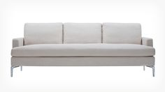Eve Sofa from EQ3 Canada.  Down filled cushions and removable cover, aluminum legs.