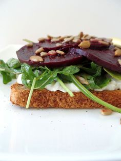 Roasted Beet And Cottage Cheese Toast from www.toasterovenlove.com #beets #toast