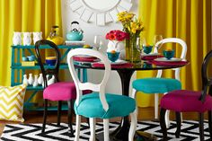 Do you love the pops of color in this sassy styled room?     Find out what type of home decor personality you are by taking our Stylescope quiz. Click here!