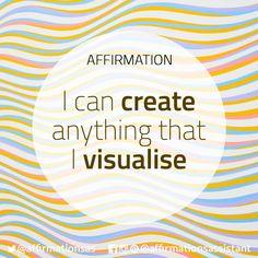 """Affirmation: """"I can create anything that I visualise"""" #abundance #positive #lawofattraction #loa #affirmation #affirmations #positiveaffirmations #positiveaffirmation #success #happiness #motivation #motivational #abundant #successtrain #manifest #achieve #joytrain"""