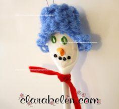 Cómo hacer muñecos con los niños con plastilina y cucharas