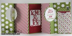 Christmas card, christmas decorations, DIY Christmas decor. http://www.luvinstampin.com/2013/09/its-card-christmas-decor.html
