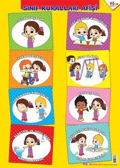 okul öncesi sınıf kuralları renkli ile ilgili görsel sonucu