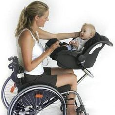 Way to carry your baby in a wheelchair