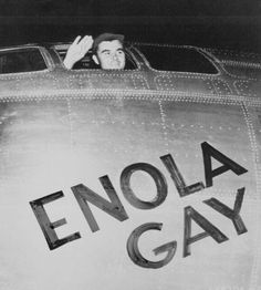 Enola Gay - the first aircraft to drop an atomic bomb