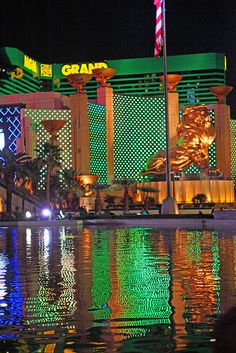 MGM Grand with The Lion Guarding, Las Vegas Strip