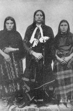 Comanche: Quanah Parker and Two of his Wives