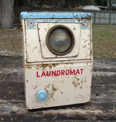 1950's Laundromat Toy Washing Machine Made by RetroVintageBazaar