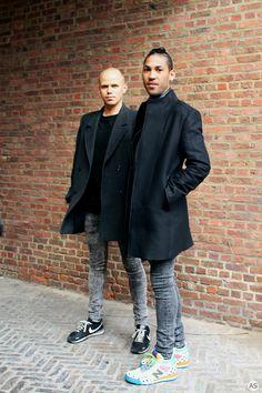Black coats, Funky sneakers   Antwerpen Streetstyle