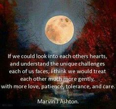If we could look into each others hearts...