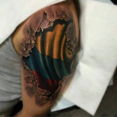 tattoo flag respect colombia