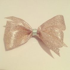 Champaign Holiday hair bow.  (Perfect for ringing in the new year!)