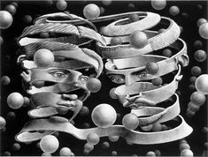 MC Escher - I've always loved this one ... such a paradox giving part of yourself to become whole with your partner.