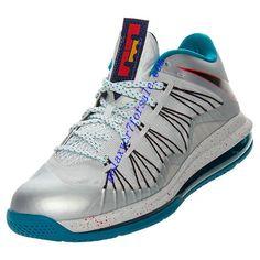 brand new 9b6d2 ad84a Lebron X Low Metallic Platinum Black Tropical Teal 579765 002 Nike Air Max  Lebron Lebron James