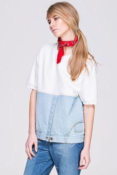 Блузки из джинсов-перевёртышей