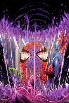 #Spiderman #Fan #Art. (Spiderman Vs Venom) By: Asterix17. (THE * 5 * STAR * AWARD * OF * ÅWESOMENESS!!!™)