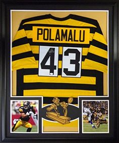 Troy Polamalu Framed Jersey Signed JSA COA Autographed Pittsburgh Steelers  Throwback at Amazon s Sports Collectibles Store d882464da