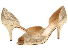 Kate Spade New York Sage Gold Starlight - Zappos Couture Gold Pumps, Gold Shoes, New Shoes, Metallic Heels, Flat Shoes, Bridal Shoes, Wedding Shoes, Bridal Footwear, Wedding Gowns