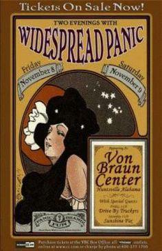 Original concert poster from Von Braun Center, Huntsville, Alabama. 11/02. 11x17 card stock. Art by Jeff Miller.