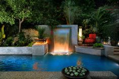 Modern Cascade Garden Pool design by Gary Sewell Jr., Los Angeles, CA. - tropical - pool - los angeles - Estate Pools & Landscapes