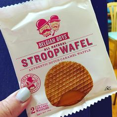 「 Thanks to my @popsugarmh box for this snack! #stroopwafel by #belgianboys are sooooo yummy  」