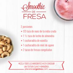 Smoothie de Fresa #Salud #Nutrición #Smoothie
