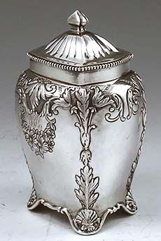 Gorham antique sterling tea caddy