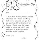 """Have fun in math as children take turns bringing home the class """"Estimation Jar"""" each week.  When the jar is returned on Monday, children write the..."""