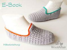 House shoes crochet pattern Anleitung für gehäkelte Hausschuhe crochet house shoes patterns
