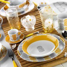 Kütahya Porselen 9129 Desen 24 Parça Yemek Seti