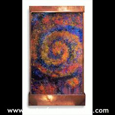 Each of these wall-hanging water fountains a great gift for any loved one! Our fountains are finished by hand... Totally Unique...You can keep it forever Visit http://www.waterfeaturesupply.com/waterwalls/hand-painted-wall-mounted-water-features.html for more information on these beautiful hand painted wall fountains.