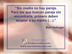 El primer vínculo que hacemos en la vida es con mamá. En Constelaciones Familiares, Bert Hellinger dice que como es nuestra relación con mamá, será con la pareja. Escucha el video que está en el enlace, hay mucha información importante ahí, gracias.