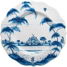 "Juliska Country Estate ""Conservatory"" Dessert/Salad Plate. Love blue and white"