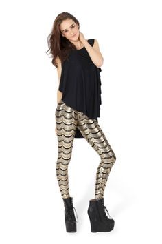 Lashes Gold Leggings › Black Milk Clothing (size L)