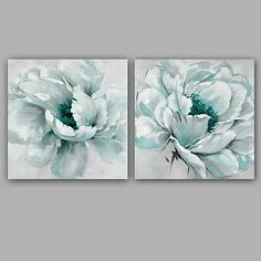 Lt Blue Toile Curtains - Home Style Corner Flower Canvas, Flower Art, Art Floral, Oil Painting On Canvas, Canvas Art, Online Painting, Abstract Flowers, Acrylic Art, Painting Inspiration