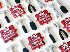 ❥ Father's Day Fish Cookies, Man Cookies, Cut Out Cookies, Easter Cookies, Holiday Cookies, Cupcake Cookies, Sugar Cookies, Fathers Day Cupcakes, Fathers Day Cake