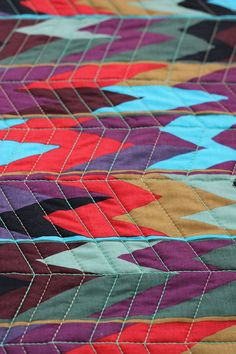 I lurvvv quilts Longarm Quilting, Free Motion Quilting, Machine Quilting, Chevron Quilt, Blue Chevron, Herringbone Quilt, Quilted Gifts, Quilt Stitching, Quilt Bedding