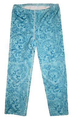 Blue Bandana Print Capri Leggings