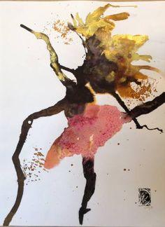 "dorlevi Saatchi arte artista Pelin;  Dibujo, ""la danza poesía 3"" #art"
