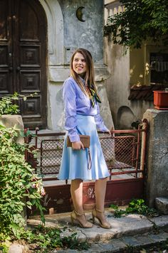 Out of the blue Go The Extra Mile, Fashion Outfits, Blue, Dresses, Style, Vestidos, Swag, Fashion Suits, Dress