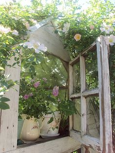 Window with a Shelf in the Garden... like this