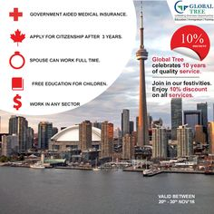 Canada is one of the most ethnically diverse countries in the world and ahas always been a sought after destination for immigrants all over the world. With a booming economy, multiple job openings and well developed infrastructure, there is no doubt why Canada tops the list for the best country for #migration Contact us at : 91-8142 826 826 & fill in the form for free counselling http://globaltree.co.in/free-counselling